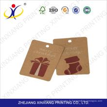 Qualité garantie prix correct kraft papier étiquette volante