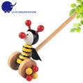 Vorschule Kinder Lovely Tier Spielzeug Hölzerne kleine Biene Push Spielzeug