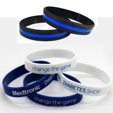 Wholesale Custom Thin Blue Line Superhero Silicone Bracelet