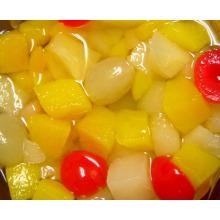 Cocktail de frutas enlatadas em xarope de luz (HACCP, ISO, BRC, FDA)