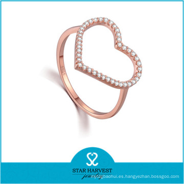 Nueva joyería para el anillo de circón de moda del día de San Valentín (R-0639)