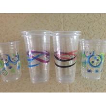 Vasos de plástico para bebidas frías