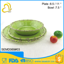 factory direct sale round shape melamine plastic tableware