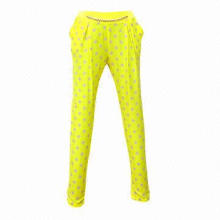 Sports Long Pants, Made of 95% Cotton and 5% Spandex Materials, OEM Orders Accepted
