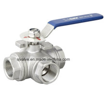 3 Way Stainless Steel 316 Ball Valve