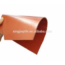 Tissu ignifuge en fibre de verre en caoutchouc silicone rouge