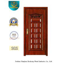 Puerta de seguridad de estilo clásico con talla (b-6002)