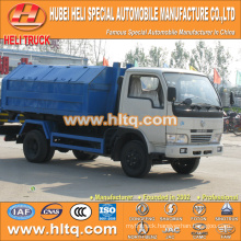 DONGFENG 4x2 5tons 95hp hydraulic lifting garbage truck Left hand drive best price for sale in China