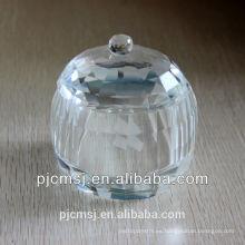 Hermoso Crystal Jewellery Box para decoración de boda o regalos