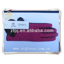 Fashion Women Winter Warm Kid Leather Gloves