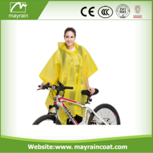 Poncho descartable descartable adulto Poncho de chuva amarelo