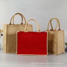 2020 Eco Factory Supplier Burlap Beach Reusable Linen Shopping Tote Bags Jute Handbag
