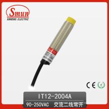 Conmutador de sensor de proximidad inductivo 90V-250VAC Salida de CA de dos hilos sin 4 mm