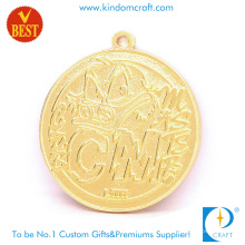 Customized Gold Plating Zinc Alloy Pressure Stamping 2D Souvenir Medal in Cartoon Style