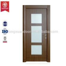 Porta de design de vidro de madeira pvc mdf interior