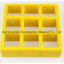 Panneau de grille en fibre de verre, caillebotis GRP / FRP utilisé dans l'industrie du lave-auto.