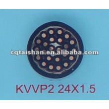 Conductor de cobre KVVP2 450 / 750V Cable de control aislado y con cubierta de PVC con cinta de cinta de cobre