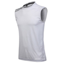 Plain White Polyester Fitness Gym Tank Top