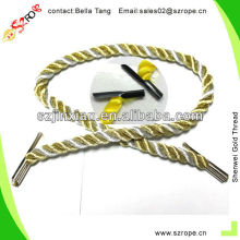 Glitter Golden Metallic Yarn Rope For Bag Handle Rope