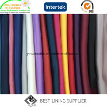 100 Polyester Shiny Soft Satin Solid Lining Fabric Manufacturer