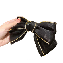 New Fabric Solid Big Hair Barrettes Bow Knot Fashion Accessories Hairpin Korean Luxury Spring Clip