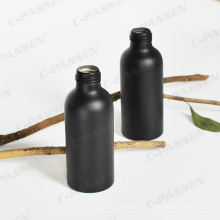 Garrafa de pulverizador de alumínio de 100ml em cor preta mate (PPC-ACB-011)