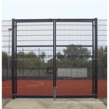 Powder Coated Cadena de acoplamiento de malla de alambre puerta de la cerca