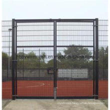 Powder Coated Chain Link Wire Mesh Fence Gate