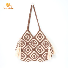Handmade Women Shoulder Macrame Crochet Bags Handbags