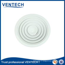 Round Ceiling Diffuser with Plastic Damper HVAC Air Diffuser
