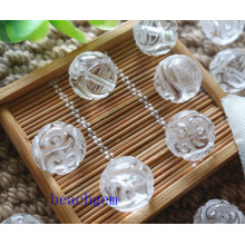 White Quartz Carved Beads