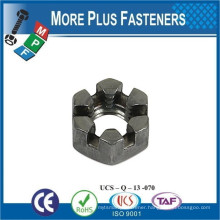Made in Taiwan DIN 937 Low Slotted Castellated Hexagon Nut