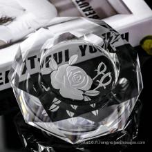 K9 roman design cendrier rond en cristal pour la décoration de la maison (ks13032)