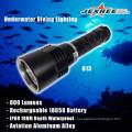 Antorcha de metal portátil LED de buceo 800lm