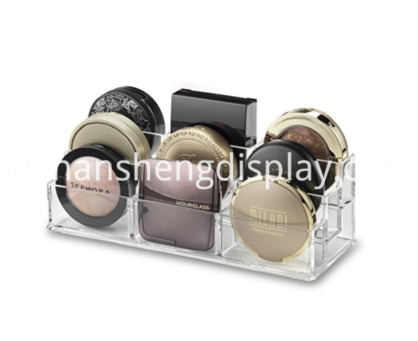 Transparent Tiered Compact Makeup Organizer