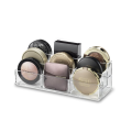 Acrylic Clear Transparent Tiered Compact Makeup Organizer