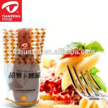 pâte de radis de chili de qualité supérieure pour la cuisson des fournisseurs de condiments