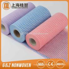 Спанлейс нетканые ткани полу-резать рулоны для кухни использовать чистку