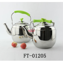 Stainless Steel Color Handle Kettle with Strainer (FT-01206)