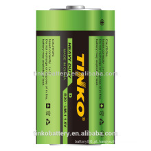 R20 carbono zinco bateria resistente, com boa qualidade