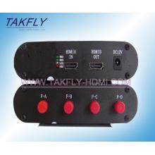 Extensor óptico de fibra óptica de HDMI / transceptor óptico de vídeo, señal HD HDMI sin comprimir