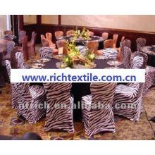cubierta de la silla de cebra, cubierta de la silla de impresión animal, CTS835, cabe todas sillas, boda, banquete, cubierta de la silla de hotel, marco y tabla de paño
