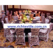 zebra chair cover,animal print chair cover,CTS835,fit all chairs,wedding,banquet,hotel chair cover,sash and table cloth
