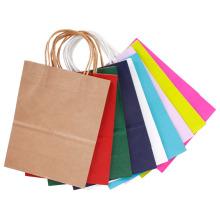Bolsa de papel de regalo para el festival Nueva bolsa de compras de papel de alta calidad con papel Kraft personalizado