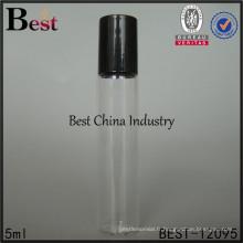 Bouteilles de verre de tube de 5ml pour le parfum avec le rouleau, couleur de peinture, impression de logo, 2 échantillons gratuits
