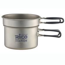Qualitativ hochwertige Titan Camping Topf Set 400ml & 800ml