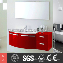 2014 New gloss PVC Bathroom Cabinet modern PVC Bathroom Cabinet