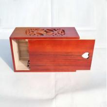 caixa de tecido facial ofício de madeira para decoração de casa