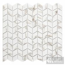 Calacatta Gold Diamond Printing Glass Mosaic For Outdoor