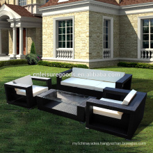 Outdoor wicker rattan sofa set